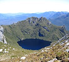Lake near Federation Peak Tasmania by KPAO