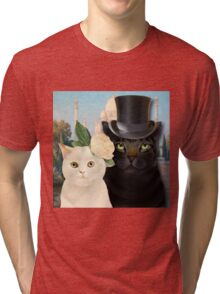 Charming Cats Wedding  Tri-blend T-Shirt