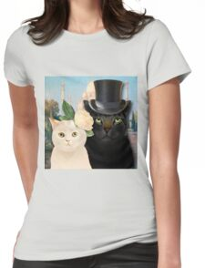 Charming Cats Wedding  Womens Fitted T-Shirt