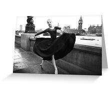 London Ballet Dancer Greeting Card