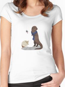 animalock Women's Fitted Scoop T-Shirt