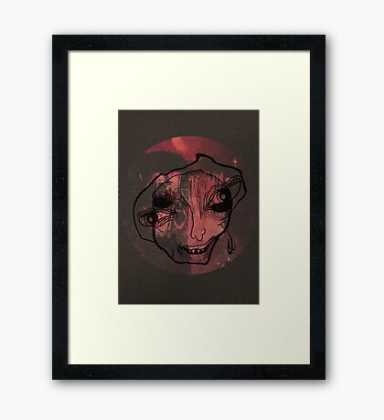 Not Going To Say What You Think Framed Print