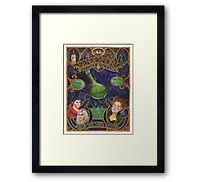 Hocus Pocus - Sanderson's Potions and Notions Vintage Add Poster (Unofficial, Fan Art) Framed Print