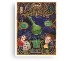 Hocus Pocus - Sanderson's Potions and Notions Vintage Add Poster (Unofficial, Fan Art) Canvas Print
