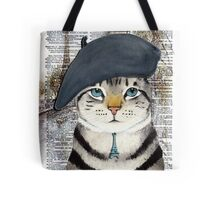 Charming French Cat in Paris. Perfect for cat lovers. Tote Bag