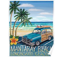 Mantaray Beach Poster