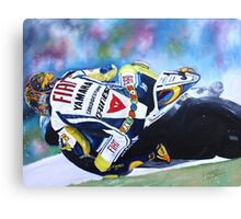 Valentino Rossi Yamaha  Canvas Print
