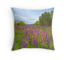 Lupin River Throw Pillow