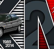 Citroen XM 25th Anniversary Illustrated Mug by RJWautographics