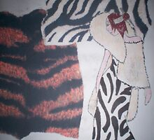 lion mane zebra skin lady colour by originalsin