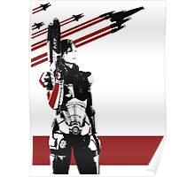 N7- Commander Shepard (Female) Poster