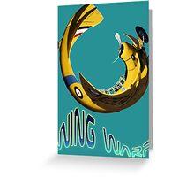 Harvard NZ934 Wing Warp T-shirt Design Greeting Card