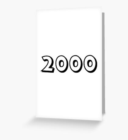 The Year 2000 Greeting Card