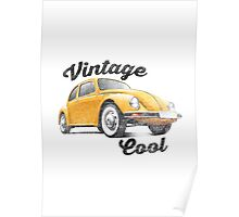 VW Beetle - Vintage Cool Poster