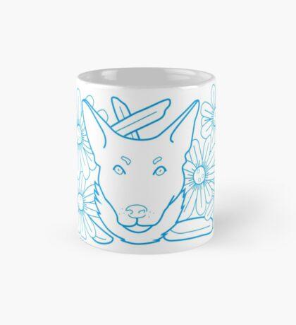 Zoe Dog Blue Lines Mug