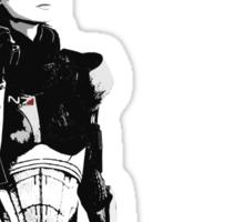 N7- Commander Shepard (Female) Sticker