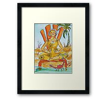 Enlightenment Comes In Waves Framed Print