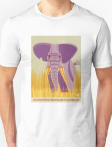 Elephant Conservation Illustration T-Shirt
