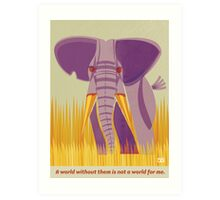 Elephant Conservation Illustration Art Print