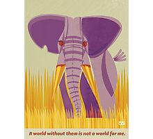 Elephant Conservation Illustration Photographic Print
