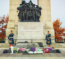 Guarding the National War Memorial - Ottawa by Yannik Hay