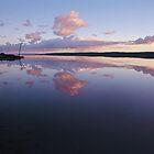 Sunrise over Port Gregory Salt Lake, Western Australia by nick page
