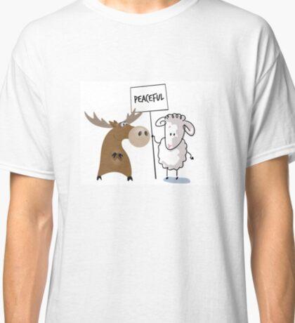 Funny, Political Statements - Peaceful Moose Lamb Classic T-Shirt