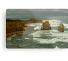 Morning Sunlight and Dark Skies, Great Ocean Rd Metal Print