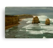Morning Sunlight and Dark Skies, Great Ocean Rd Canvas Print