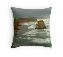 Morning Sunlight and Dark Skies, Great Ocean Rd Throw Pillow