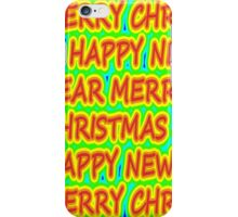 color merry christmas iPhone Case/Skin