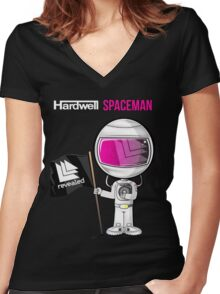 Hardwell - Call me a Spaceman Women's Fitted V-Neck T-Shirt