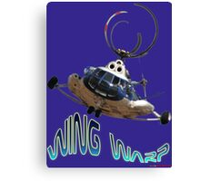 Mil Helicopter Wing Warp T-shirt Design Canvas Print