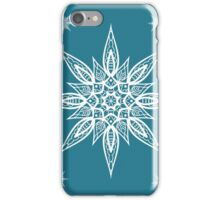 Christmas seamless pattern with snowflakes on blue background iPhone Case/Skin