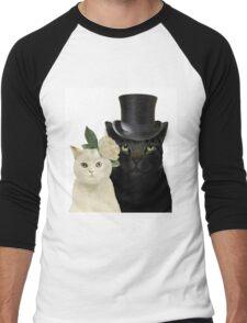 Charming Cats Wedding Men's Baseball ¾ T-Shirt