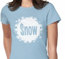 white snowball - snow Womens Fitted T-Shirt