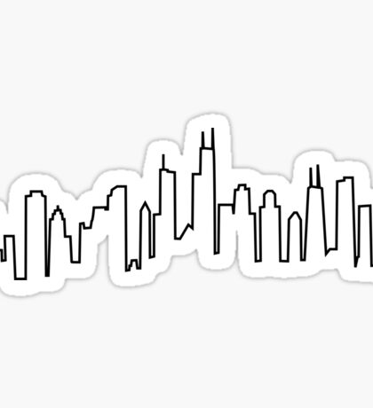 Chicago City Skyline Sticker