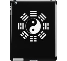 Yin Yang, I Ching, Pure & simple, WHITE on BLACK iPad Case/Skin
