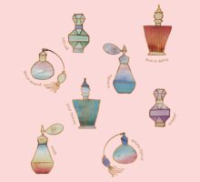 Pretty Perfumes - a pattern of vintage fragrance bottles Kids Clothes