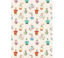 Pretty Perfumes - a pattern of vintage fragrance bottles Photographic Print