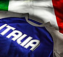 Italian flag and t-shirt by enolabrain