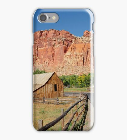 Gifford Barn at Historic Fruita Capitol Reef National Park iPhone Case/Skin