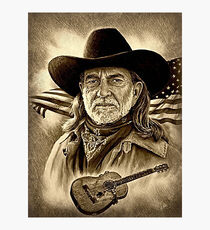 Willie Nelson American Legend Photographic Print