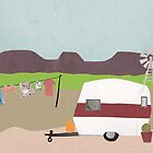 camping on the farm by Sandy Mitchell