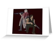 Carol Peletier and Daryl Dixon (Version 1) - The Walking Dead  Greeting Card