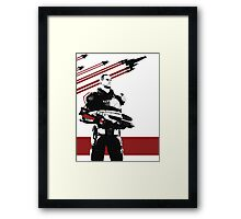 N7- Commander Shepard (Male) Framed Print