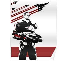 N7- Commander Shepard (Male) Poster