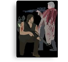 Carol Peletier and Daryl Dixon (Version 2) - The Walking Dead Canvas Print
