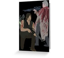 Carol Peletier and Daryl Dixon (Version 2) - The Walking Dead Greeting Card