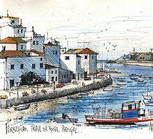 Ferragudo, Praia da Rocha, Portugal by MrCreator